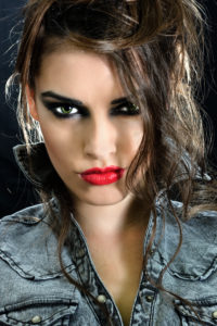 makeup, festival style, rocker makeup, beautiful woman